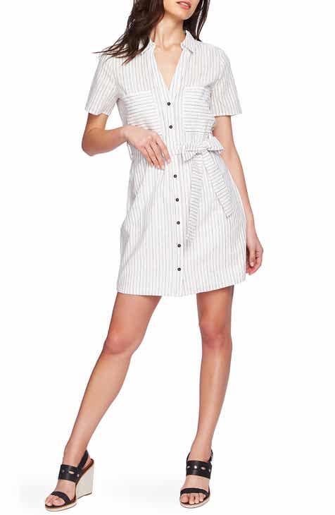 1.STATE Canopy Stripe Shirtdress