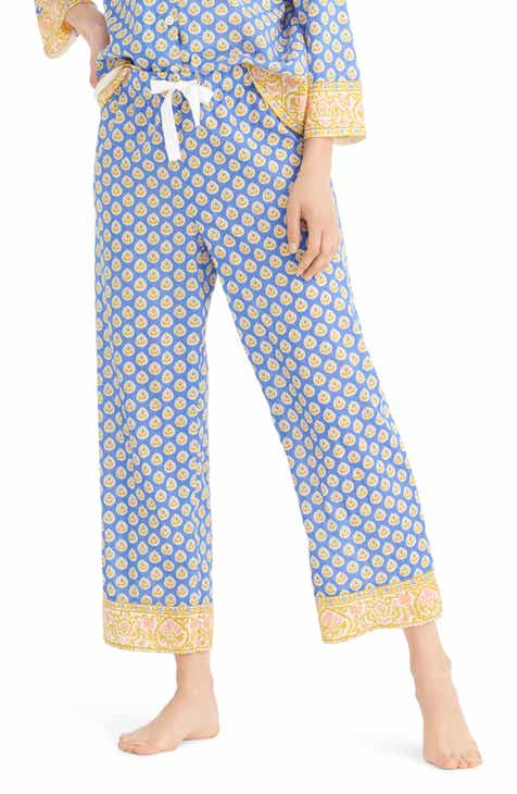 561fa4b84 J.Crew Cropped Cotton Wide Leg Pajama Pants