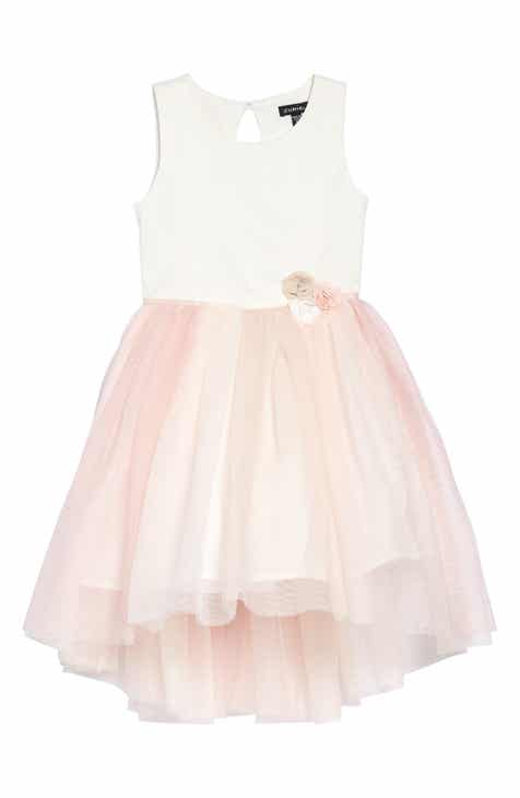 6b0f7d2d342 Zunie Flower Embellished Tulle Fit   Flare Dress (Toddler Girls