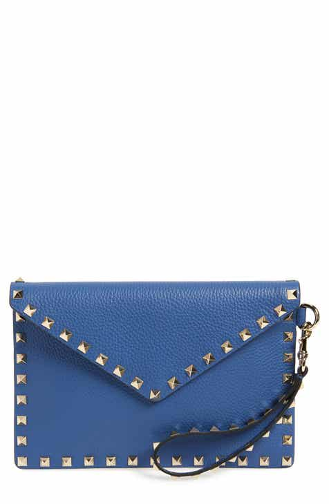 caa2269bbffb VALENTINO GARAVANI Medium Rockstud Leather Envelope Pouch