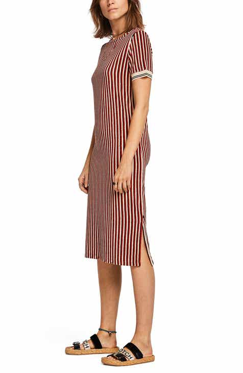 27632141b8 Scotch & Soda Stripe Midi Shift Dress