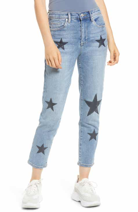 7ead575042ea BLANKNYC Star Patch Crop Skinny Jeans (Ever After)