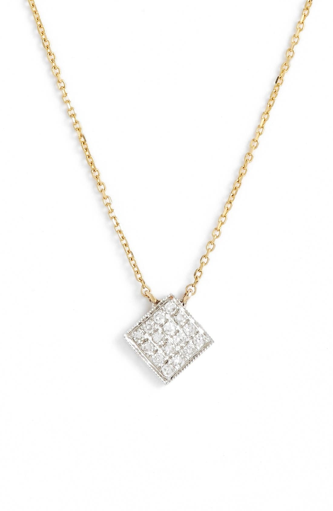 DANA REBECCA DESIGNS Lisa Michelle Diamond Pavé Square Pendant Necklace