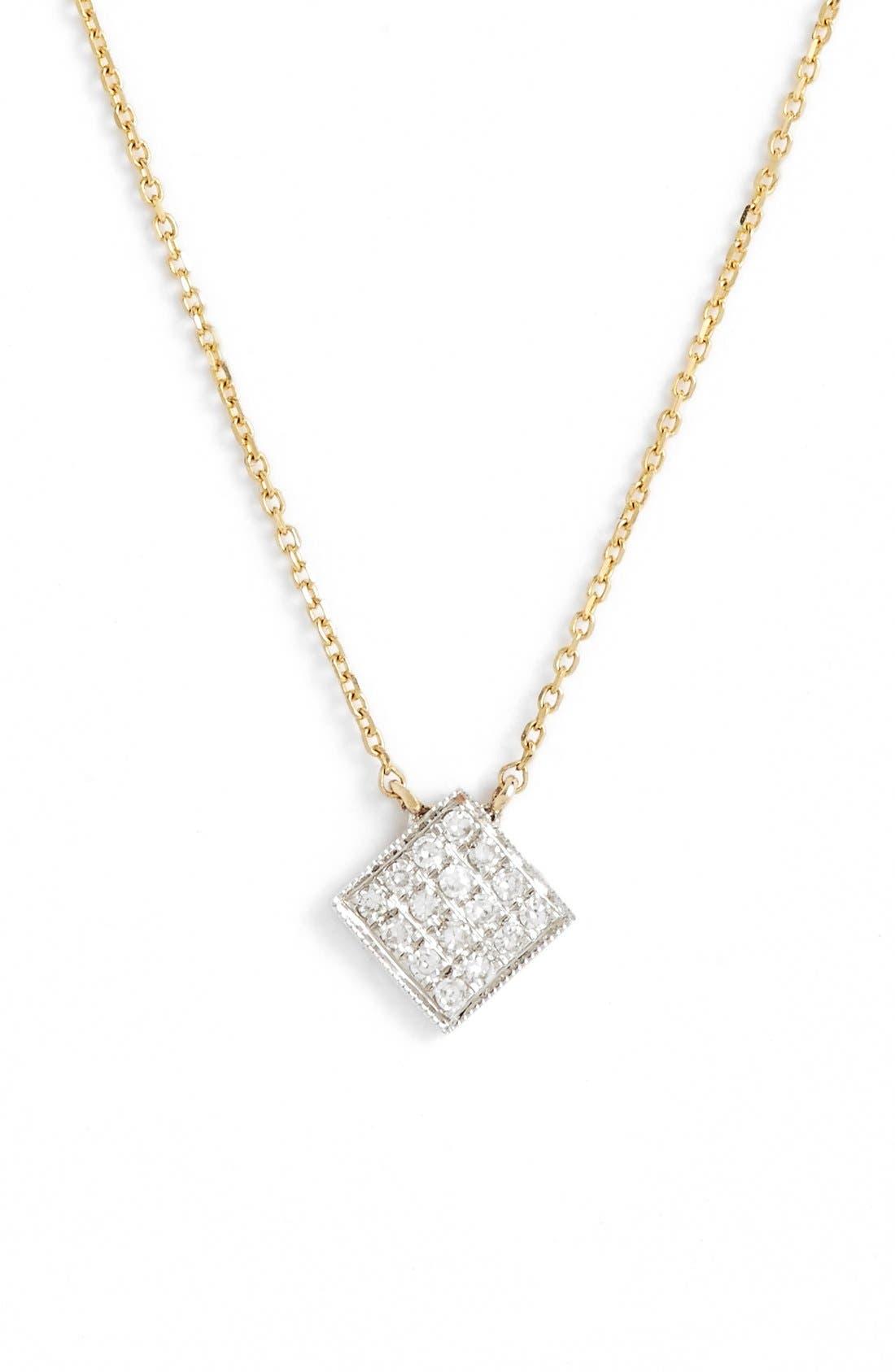Main Image - Dana Rebecca Designs 'Lisa Michelle' Diamond Pavé Square Pendant Necklace (Nordstrom Exclusive)