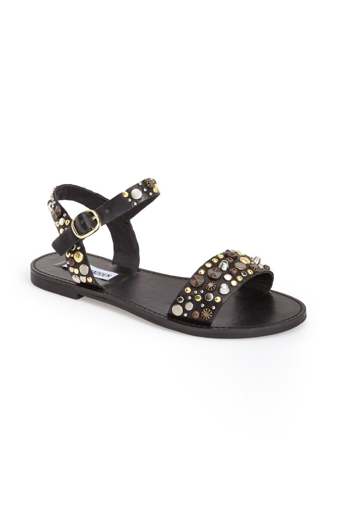 Alternate Image 1 Selected - Steve Madden 'Donddi-S' Ankle Strap Sandal (Women)