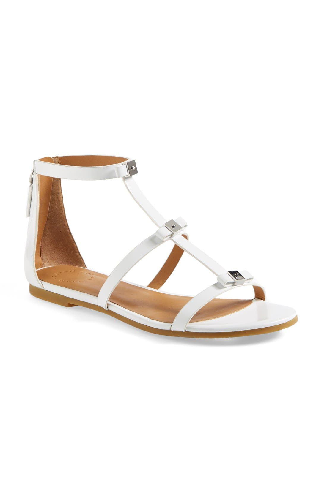 Alternate Image 1 Selected - MARC BY MARC JACOBS Cube Bow Leather Sandal (Women)