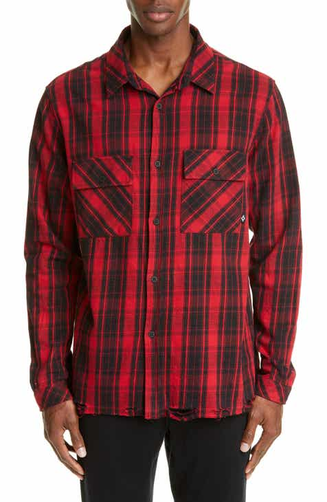 f8345f5b96dc8 Marcelo Burlon County Check Plaid Button-Up Flannel Shirt
