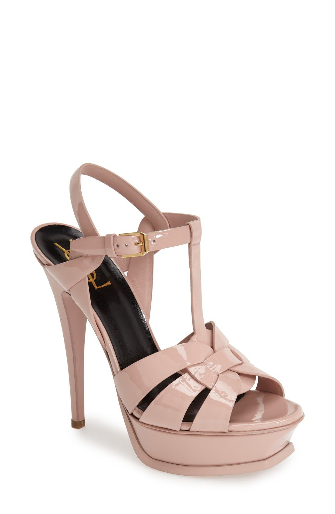 Saint Laurent Tribute T-Strap Platform Sandal (Women)