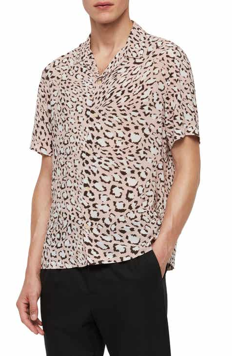 04fb19e52a1 ALLSAINTS Amur Regular Fit Short Sleeve Button-Up Shirt