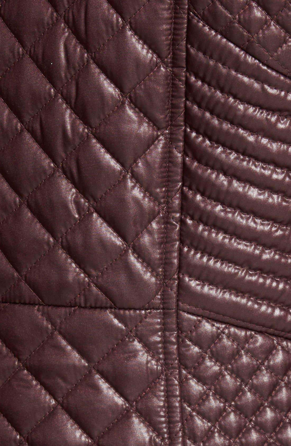 Alternate Image 3  - Via Spiga Hooded Front Zip Quilted Coat (Regular & Petite)