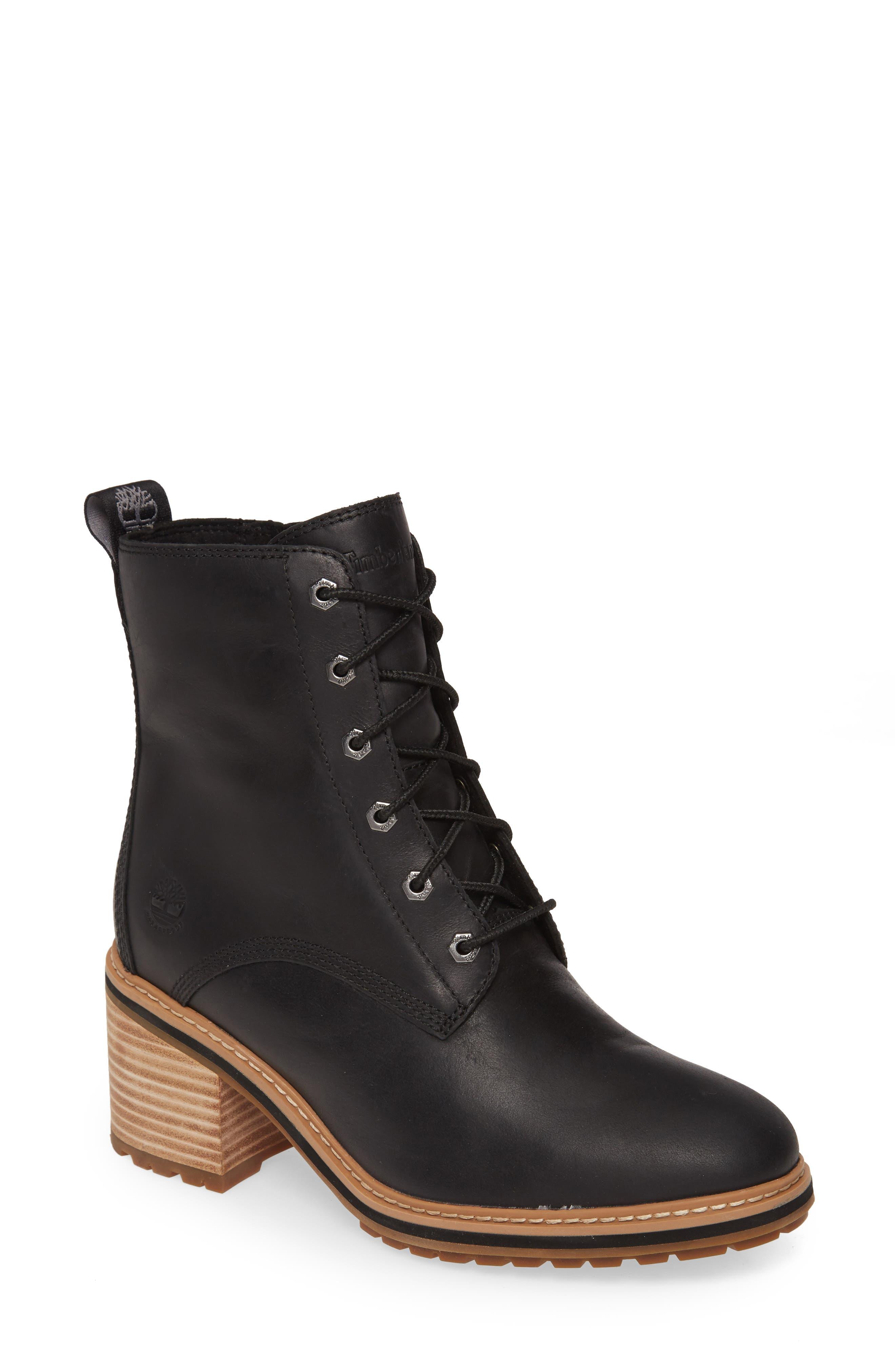 Timberland Brown Knee High Heeled BootsBooties Size US 8 Regular (M, B)