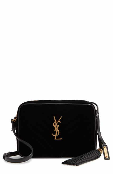 005ca1c9e6c Saint Laurent Lou Velvet Matelassé Camera Bag