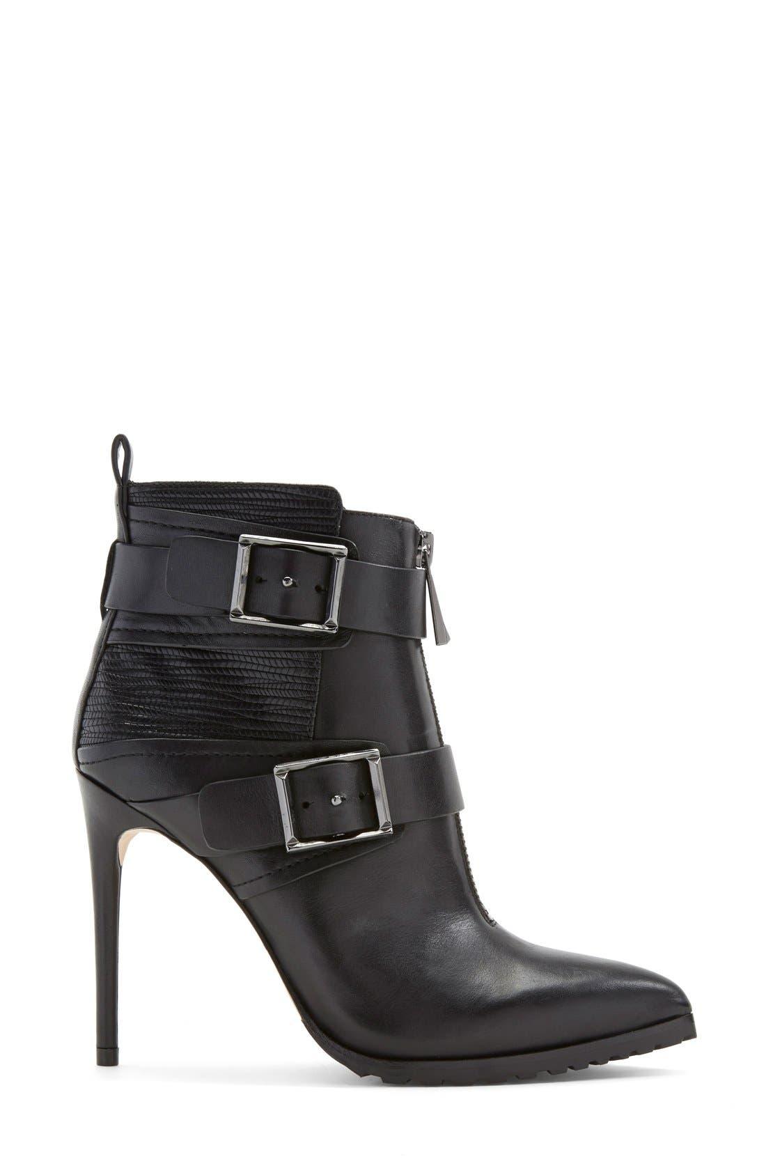 'Alec' Bootie (Women),                             Alternate thumbnail 4, color,                             Black Leather
