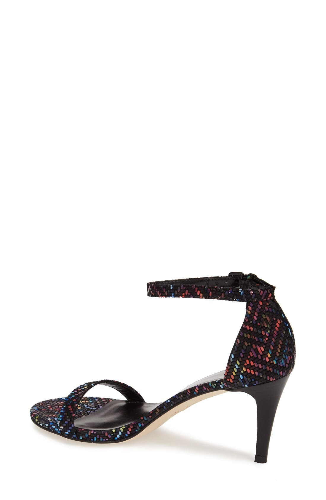 'Nunaked' Leather Ankle Strap Sandal,                             Alternate thumbnail 2, color,                             Multi Technicolor Nappa