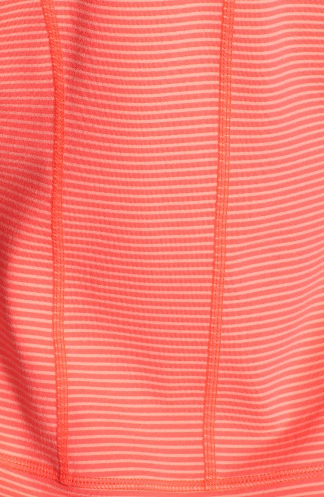 Alternate Image 3  - Zella 'Tahnee Bomber' Stripe Hooded Jacket