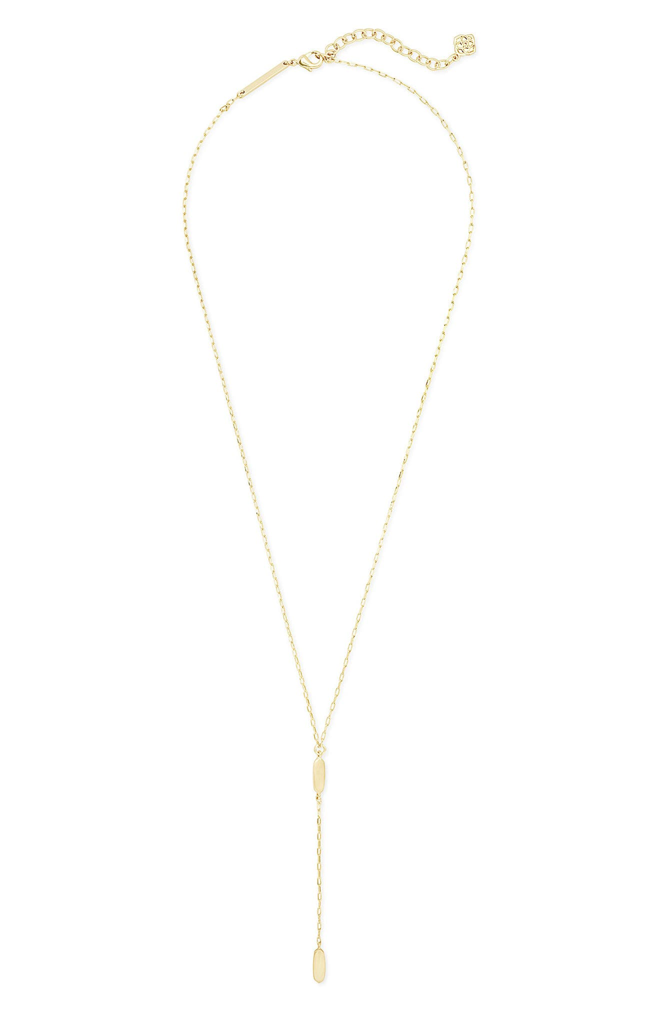 Y Necklace 925 Sterling Silver Cubic Zirconia Fish Bone and Cat Ear Charm Lariat