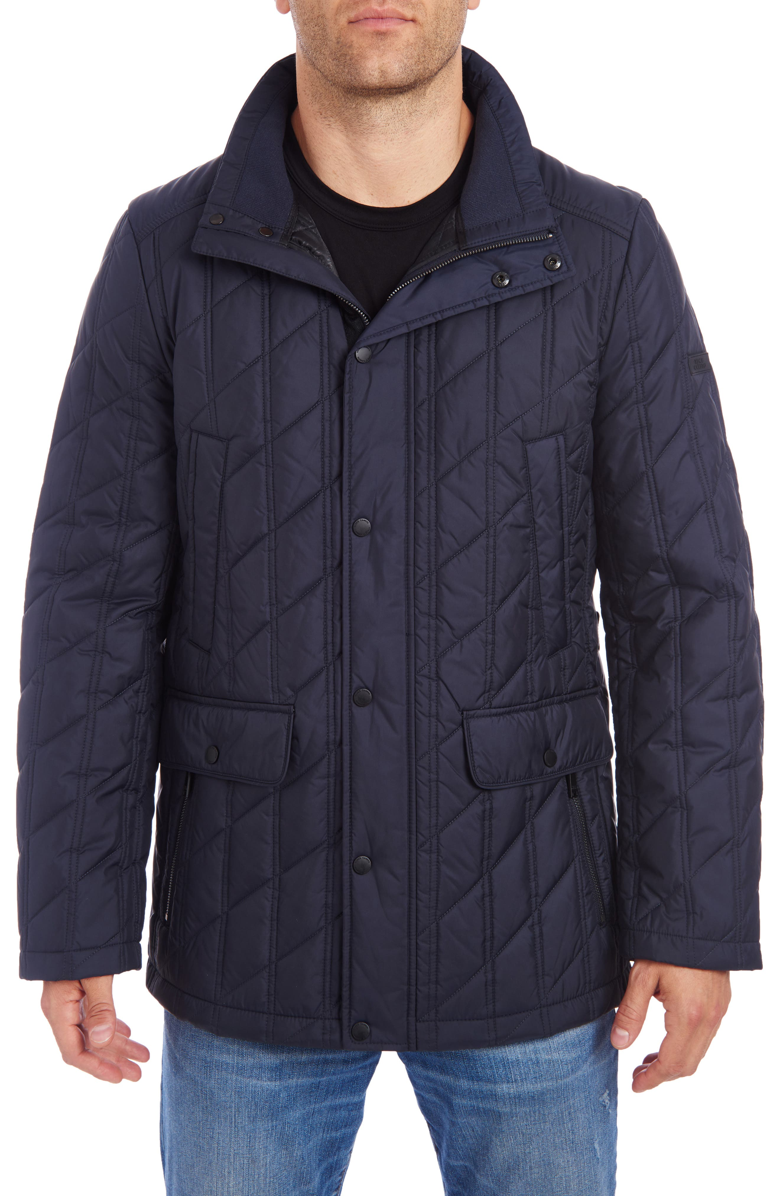 Vince Camuto Mens Hooded Down Puffer Jacket Down Coat