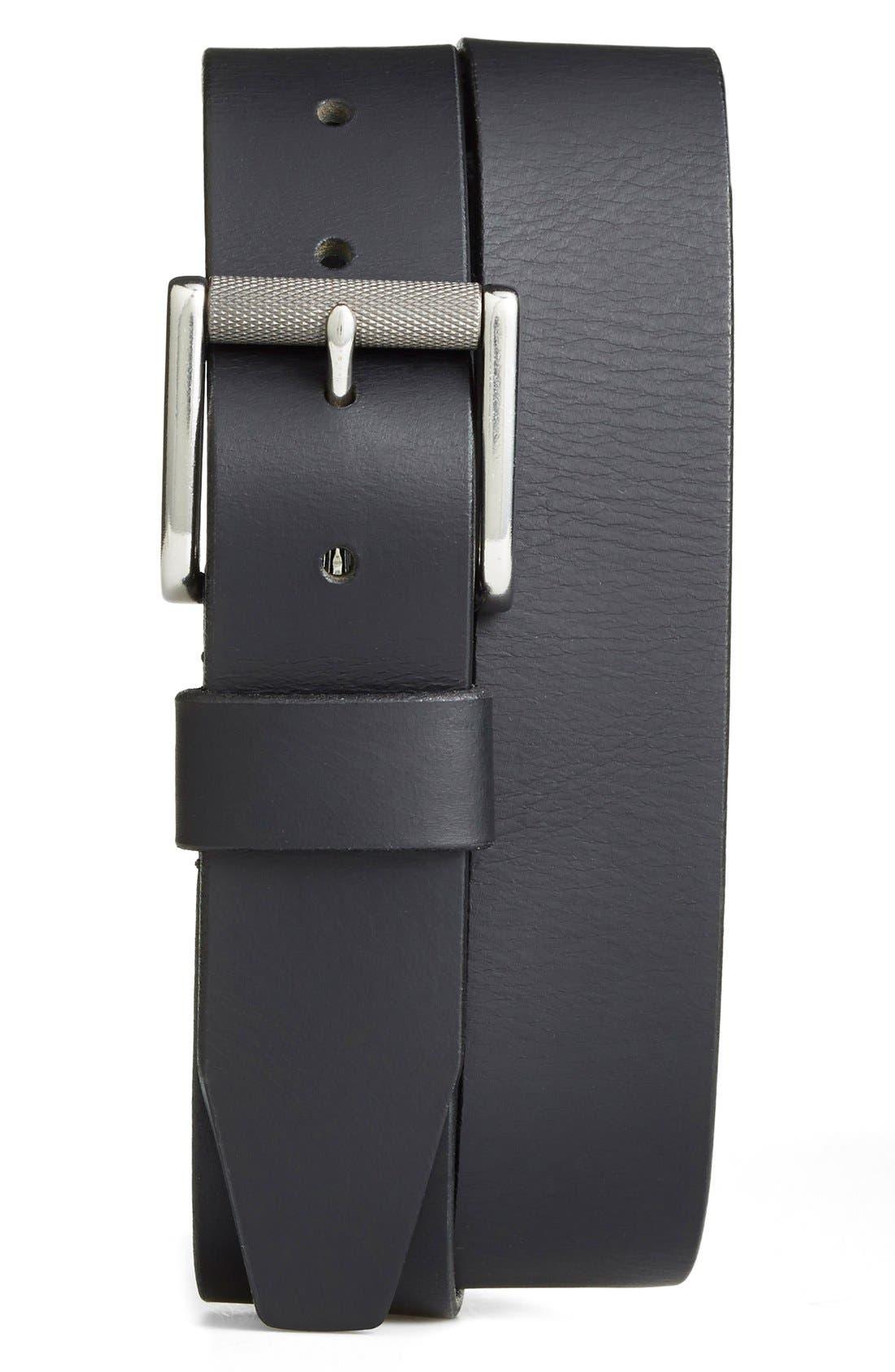 Roller Buckle Belt,                         Main,                         color, Black