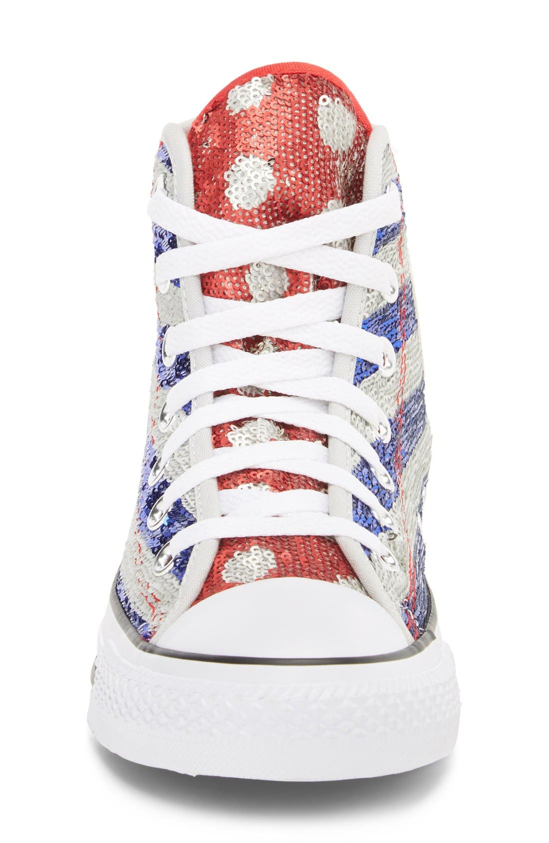 Alternate Image 3  - Converse Chuck Taylor® All Star® Sequin Flag High Top Sneaker (Women)