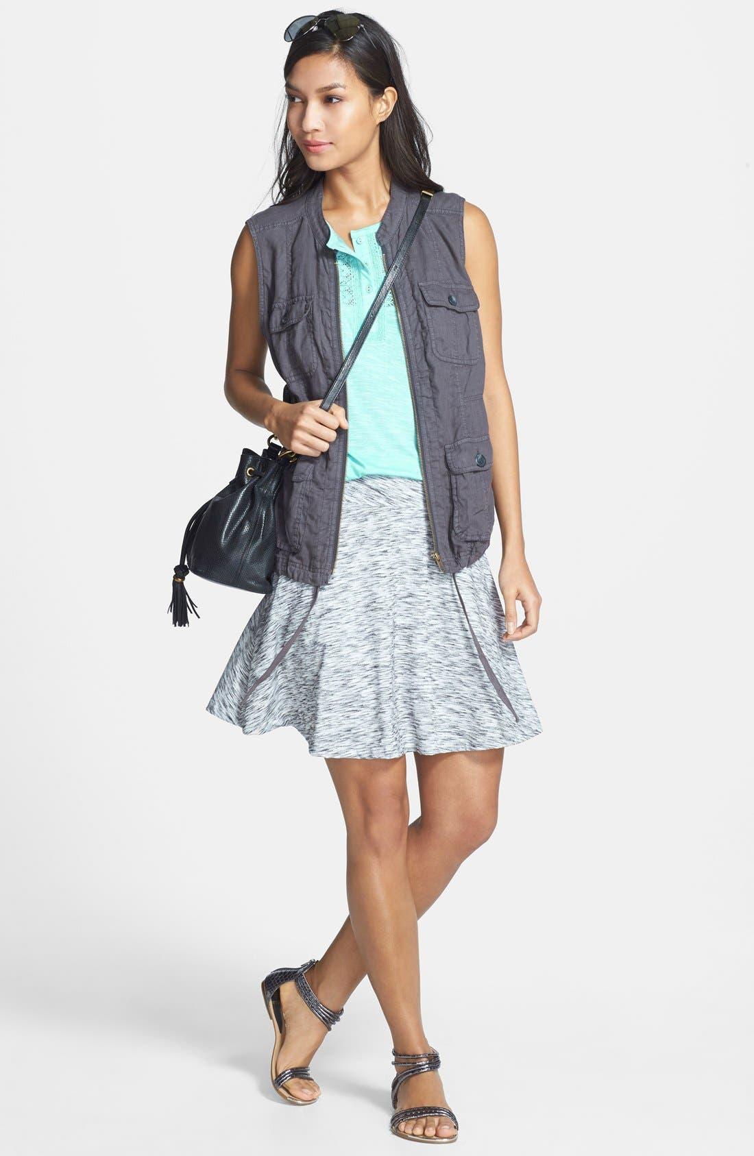 Alternate Image 4  - Caslon® Twist Waist Flared Skirt