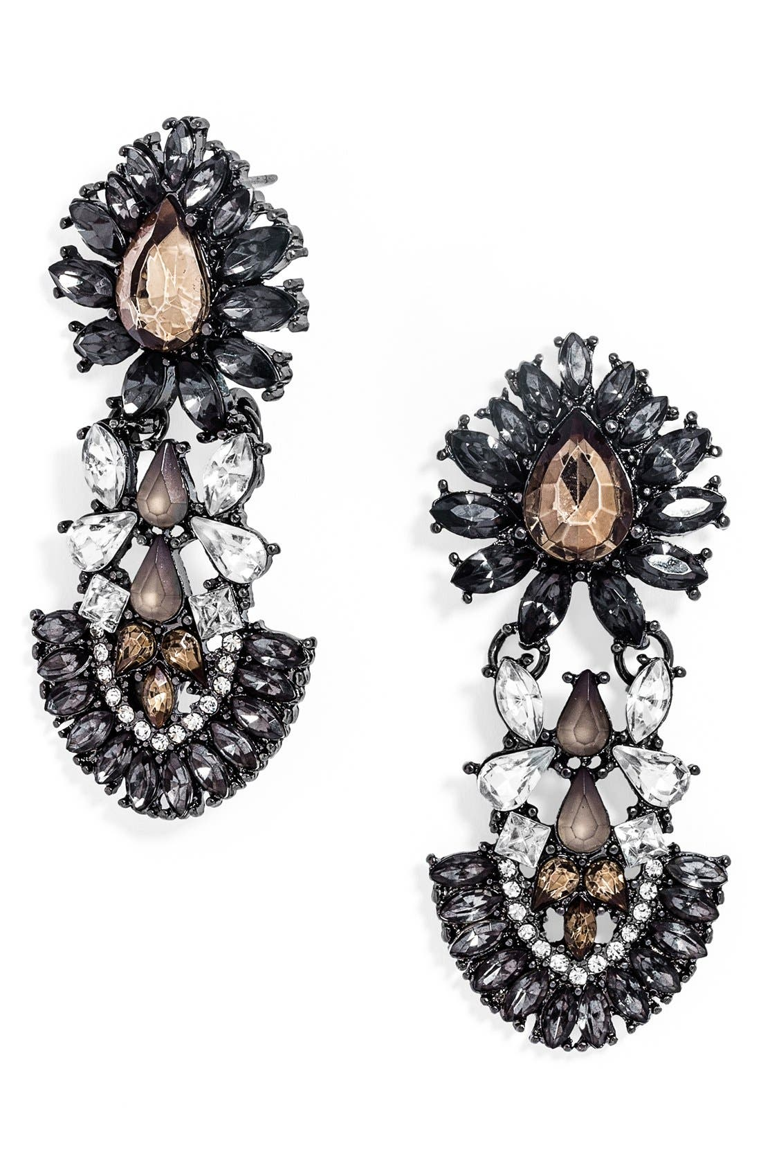 'Smoky Frank' Drop Earrings,                         Main,                         color, Grey