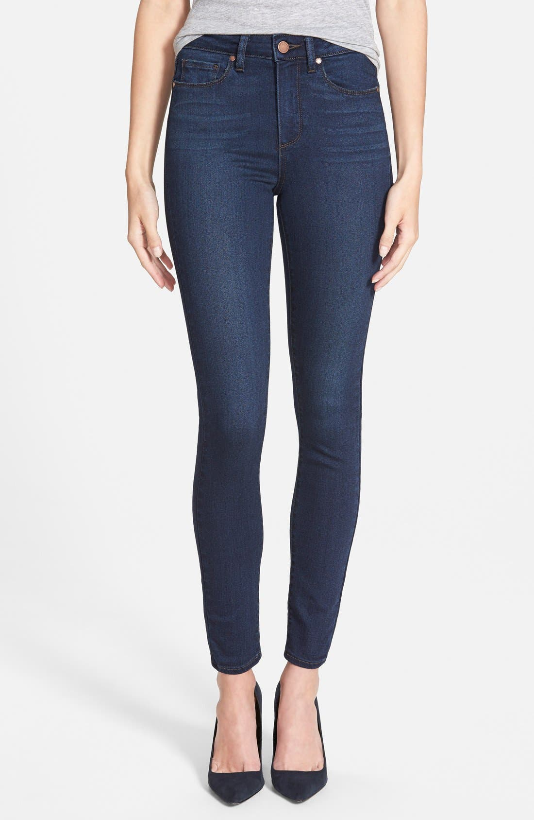 Main Image - Paige Denim 'Hoxton' High Rise Ultra Skinny Jeans (Takara) (Nordstrom Exclusive)