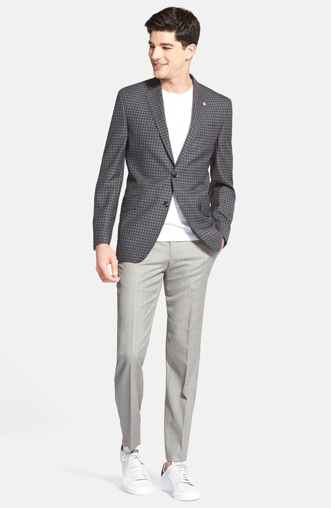 Alternate Image 4  - Ted Baker London Jefferson Flat Front Wool Trousers