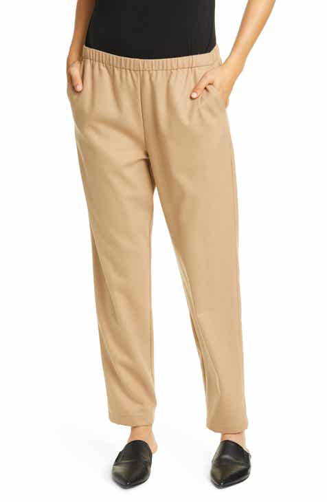 Eileen Fisher Wool Tapered Ankle Pants