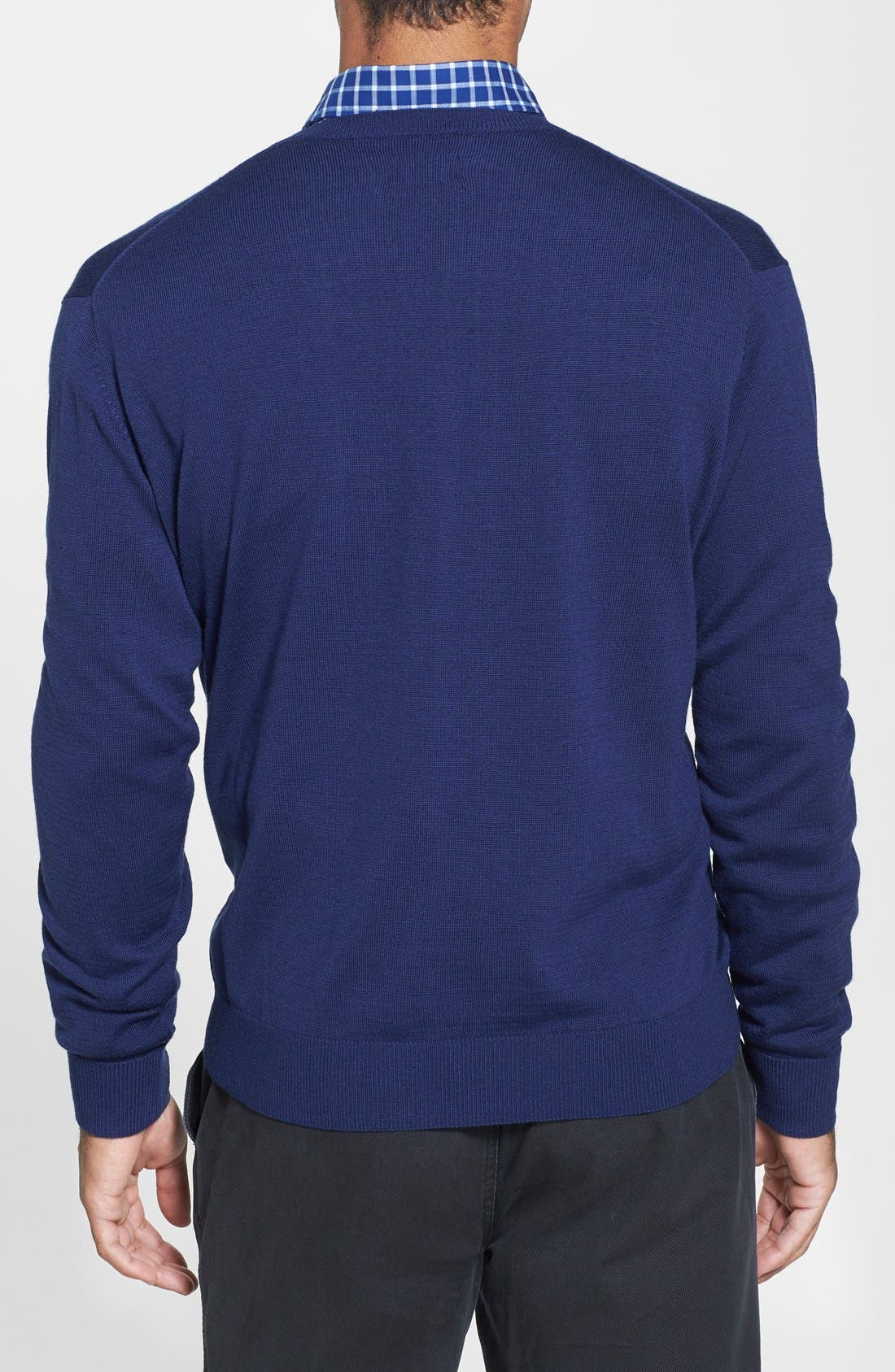 Douglas V-Neck Sweater,                             Alternate thumbnail 2, color,                             Liberty Navy