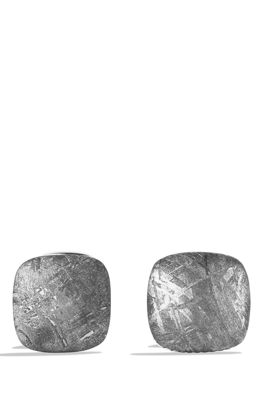 'Streamline' Cuff Links with Semiprecious Stone,                             Alternate thumbnail 2, color,                             Meteorite