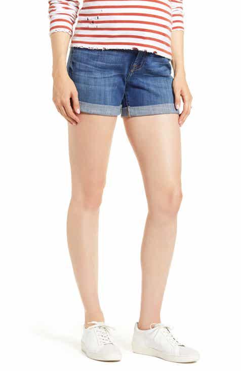 7 for All Mankind® Roll Cuff Denim Shorts (Broken Twill Vanity)