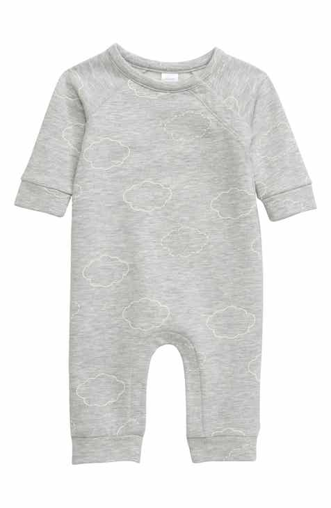 Nordstrom Cloud Print Cotton Blend Romper (Baby)