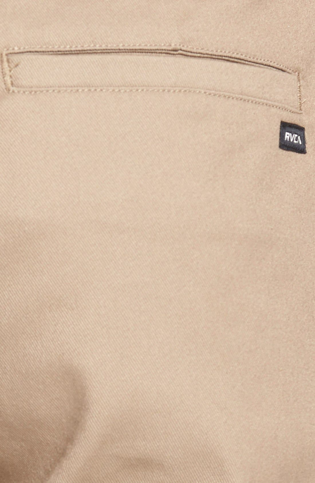 Alternate Image 3  - RVCA 'The Week-End' Slim Straight Leg Stretch Twill Chinos (Online Only)