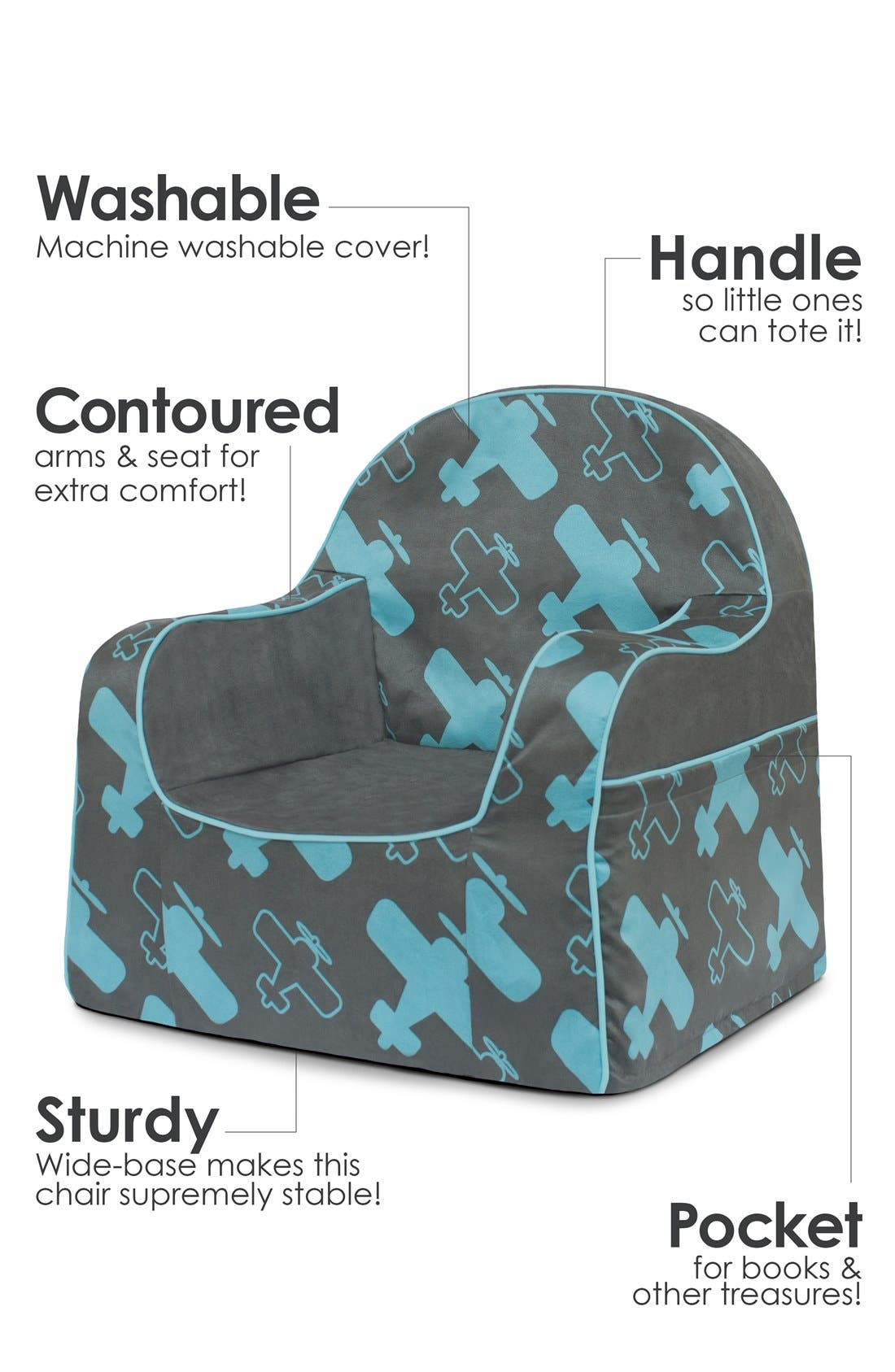 'Personalized Little Reader' Chair,                             Alternate thumbnail 5, color,                             Planes