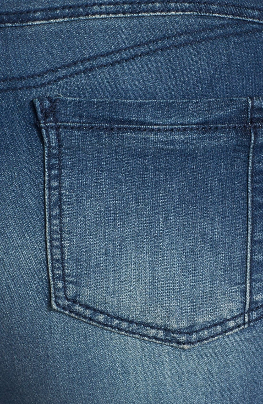 Alternate Image 3  - Poetic Justice 'Suzzie' Stretch Knit Denim Crop Jeans (Plus Size)