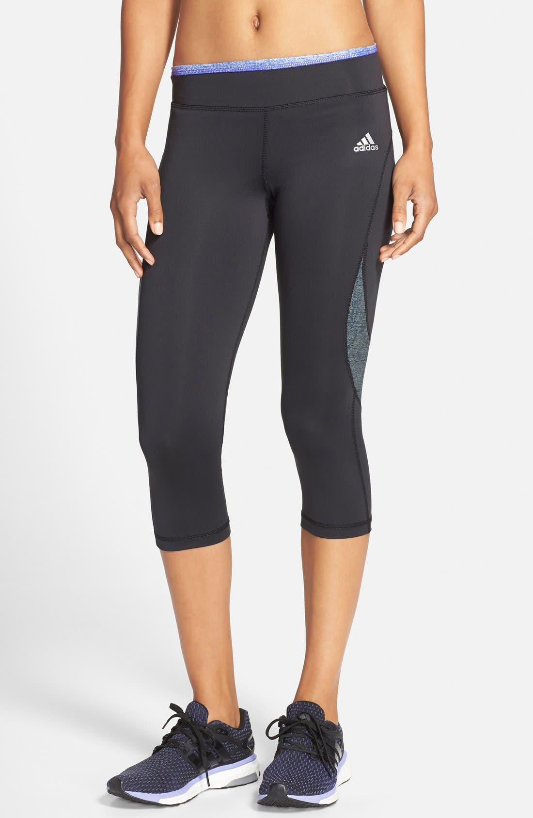 Alternate Image 1 Selected - adidas 'Techfit®' Three Quarter Tights