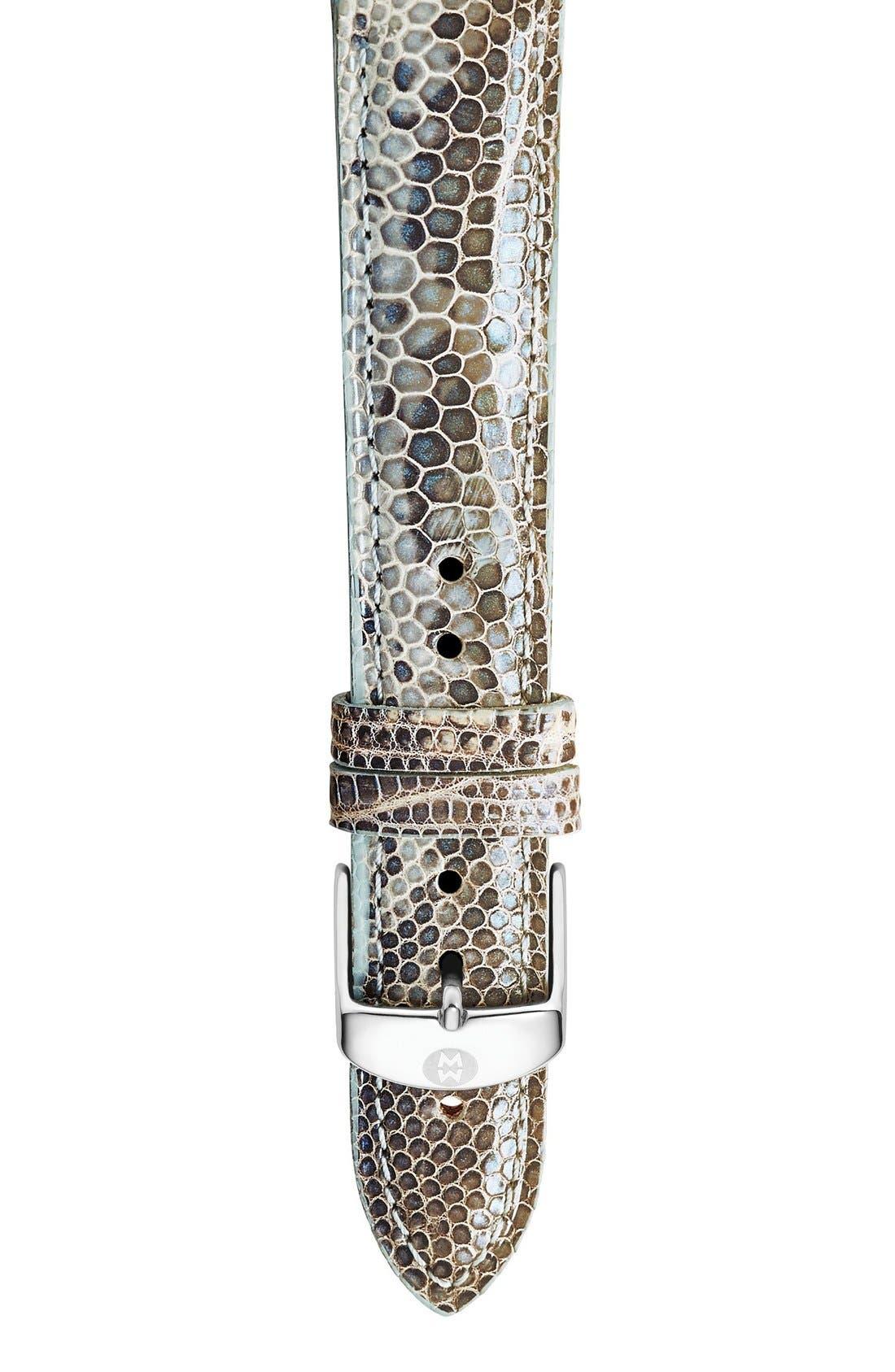 MICHELE 16mm Lizardskin Watch Strap