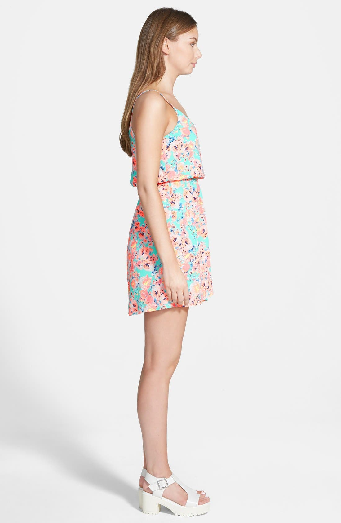 Alternate Image 3  - Lush 'Katherine' Tulip Hem Skater Dress