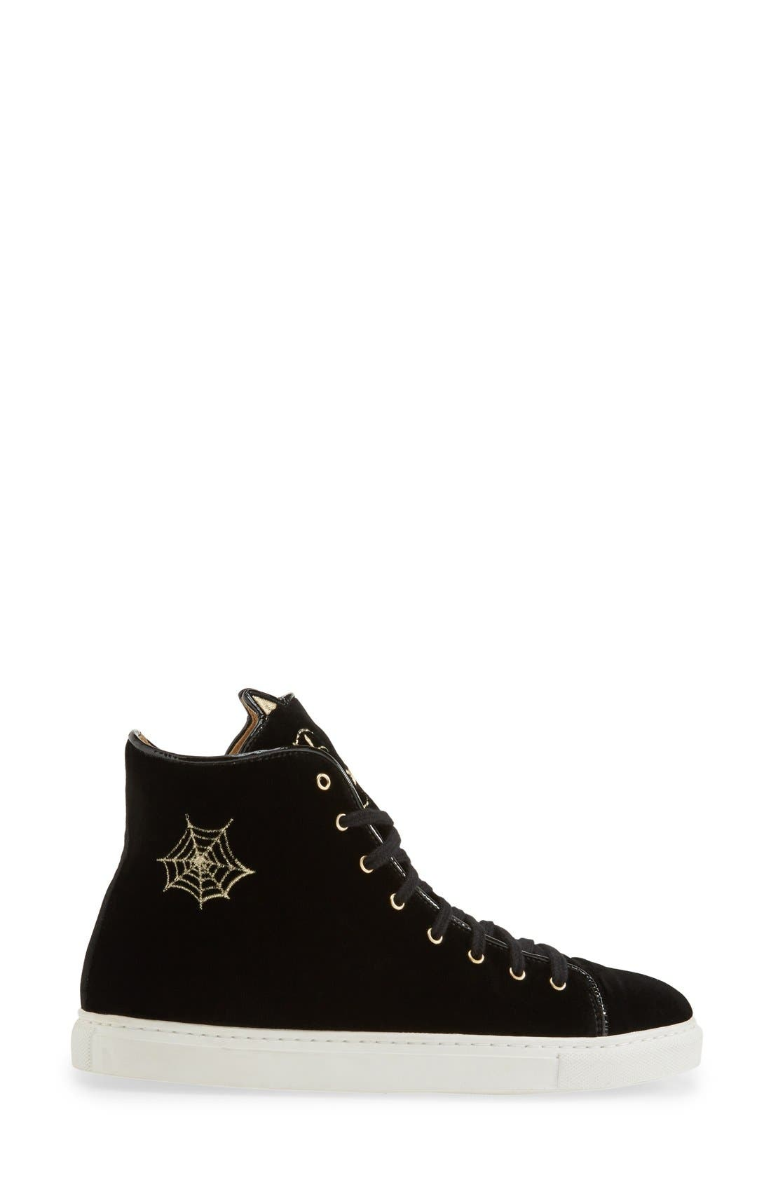 Alternate Image 4  - Charlotte Olympia 'Purrrfect' High Top Sneaker (Women)