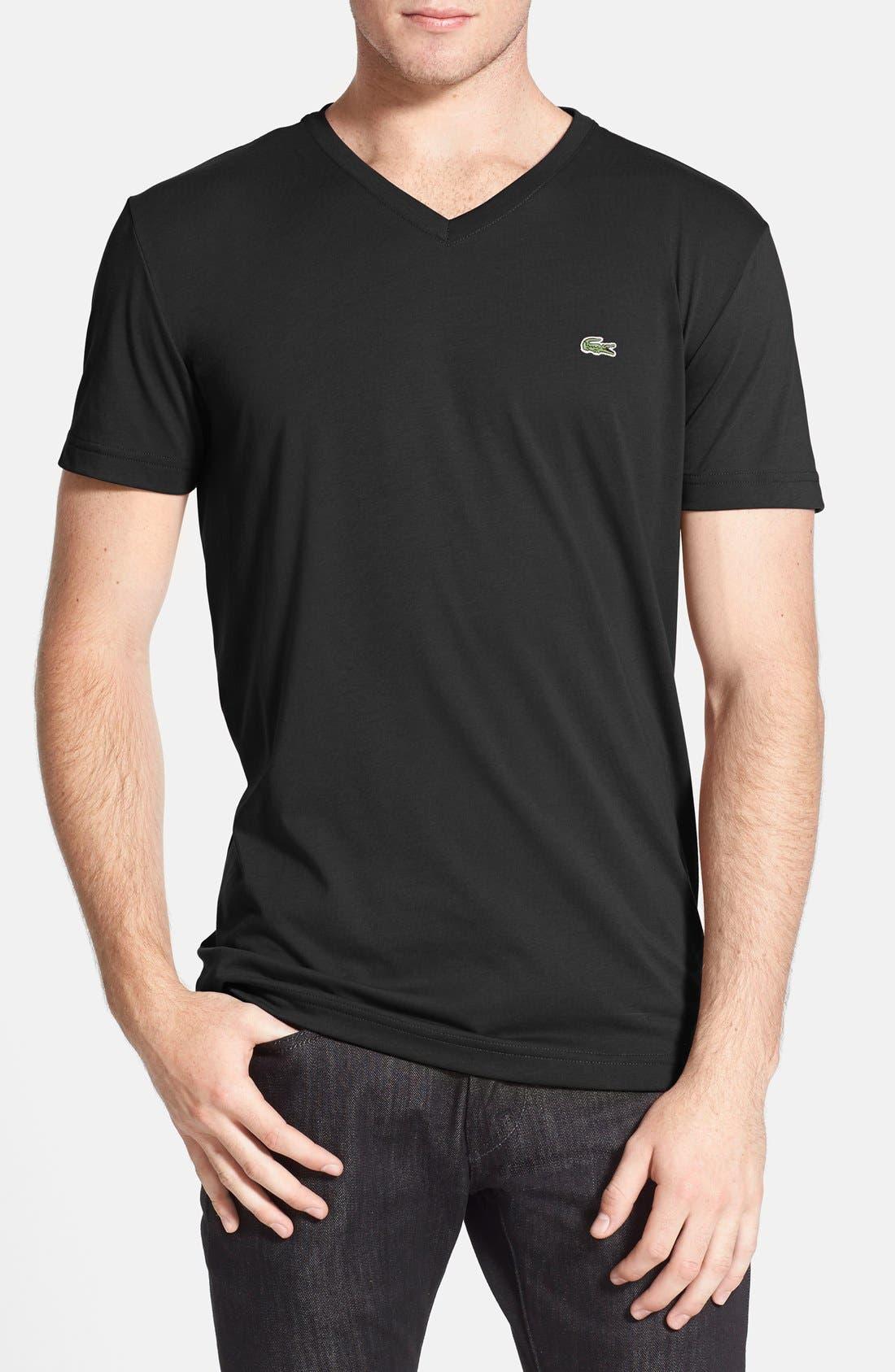 Alternate Image 1 Selected - Lacoste Pima Cotton Jersey V-Neck T-Shirt