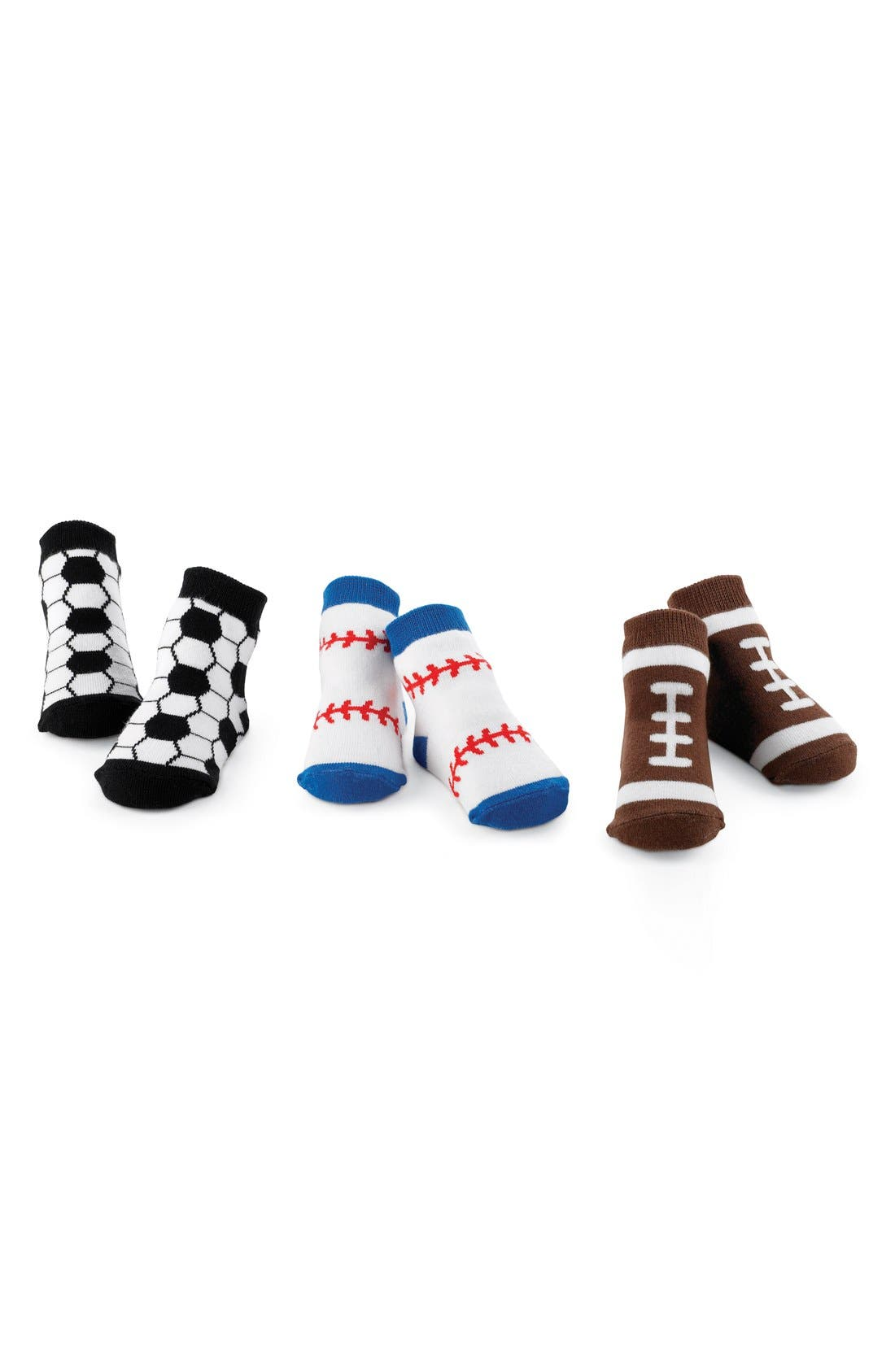 Alternate Image 2  - Mud Pie Socks Set (3-Pack) (Baby Boys)