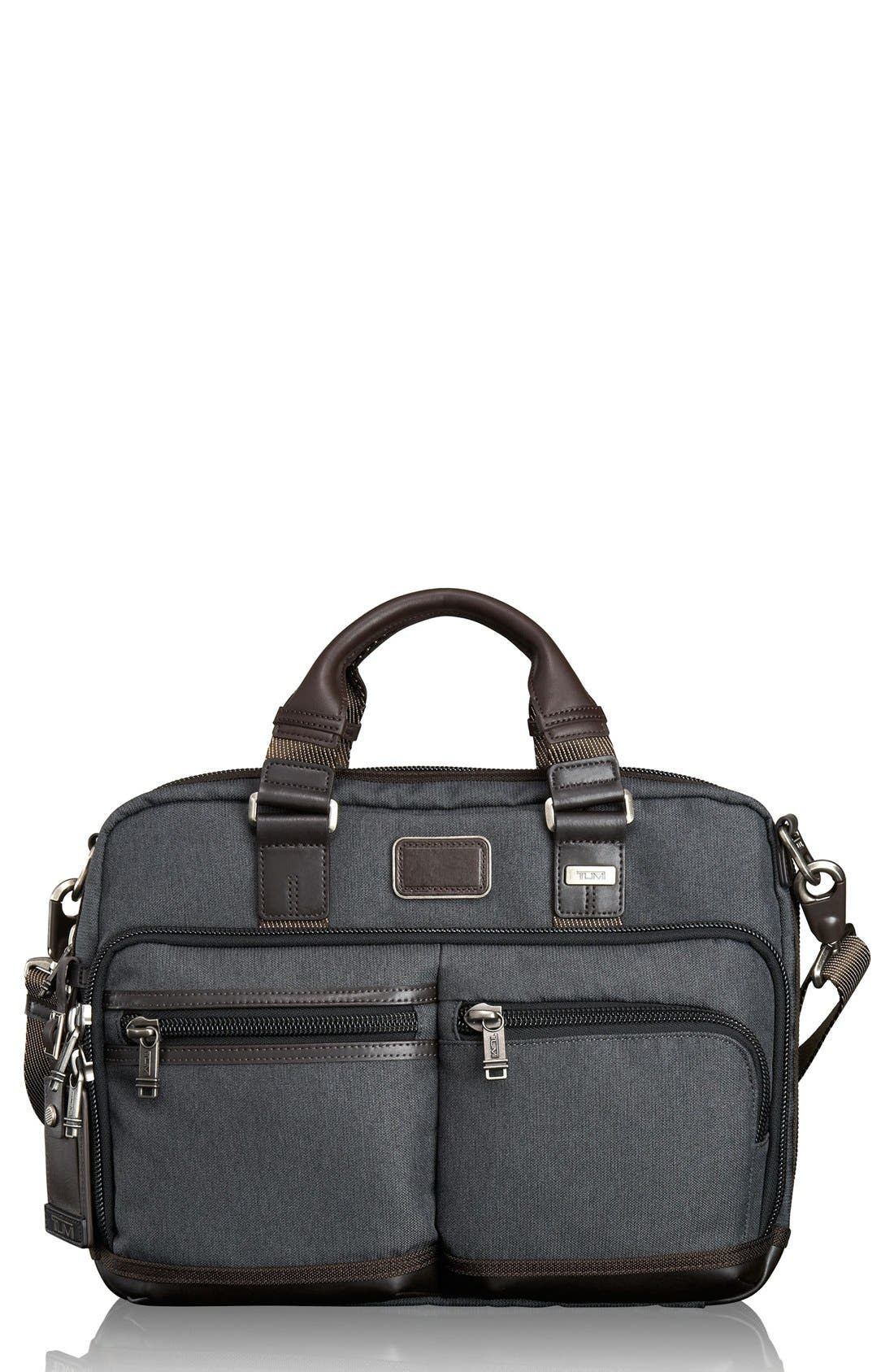 Alpha Bravo - Anderson Commuter Briefcase,                             Main thumbnail 1, color,                             Anthracite