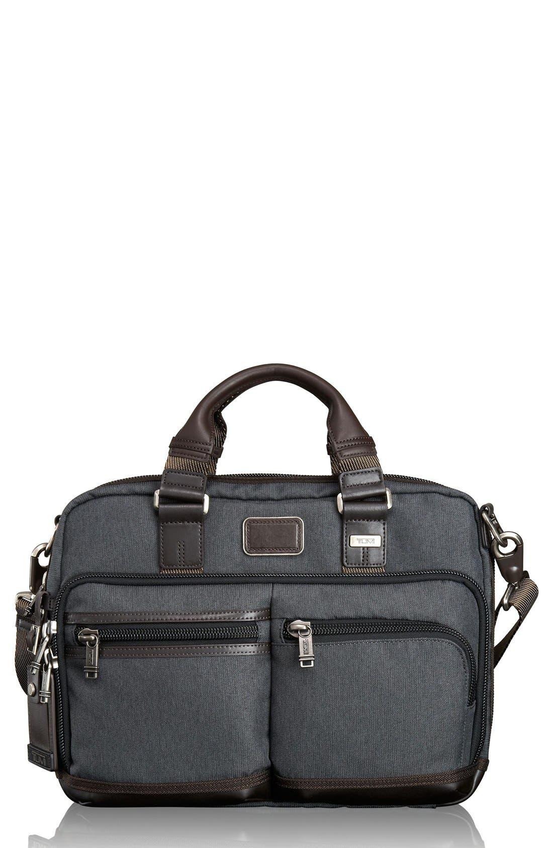 Alpha Bravo - Anderson Commuter Briefcase,                         Main,                         color, Anthracite