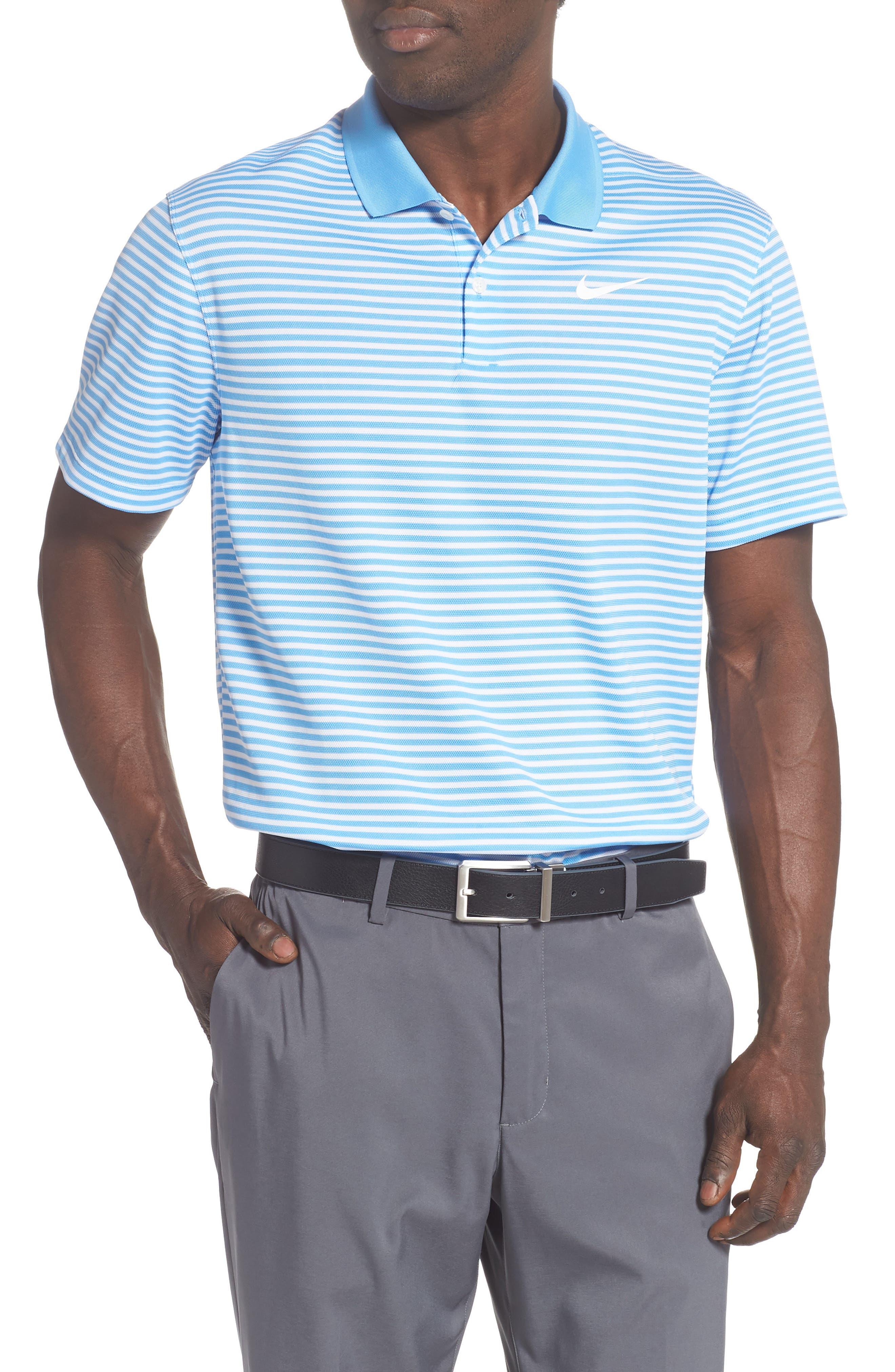 nike polo shirt victory slim fit blau