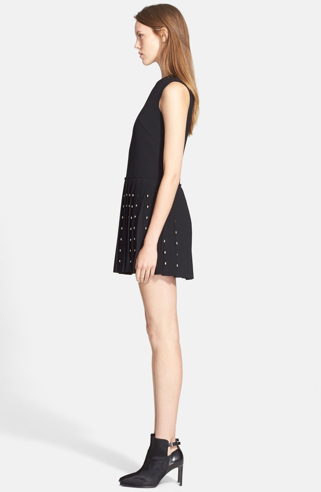 Alternate Image 3  - McQ by Alexander McQueen Studded Pleated Fit & Flare Dress