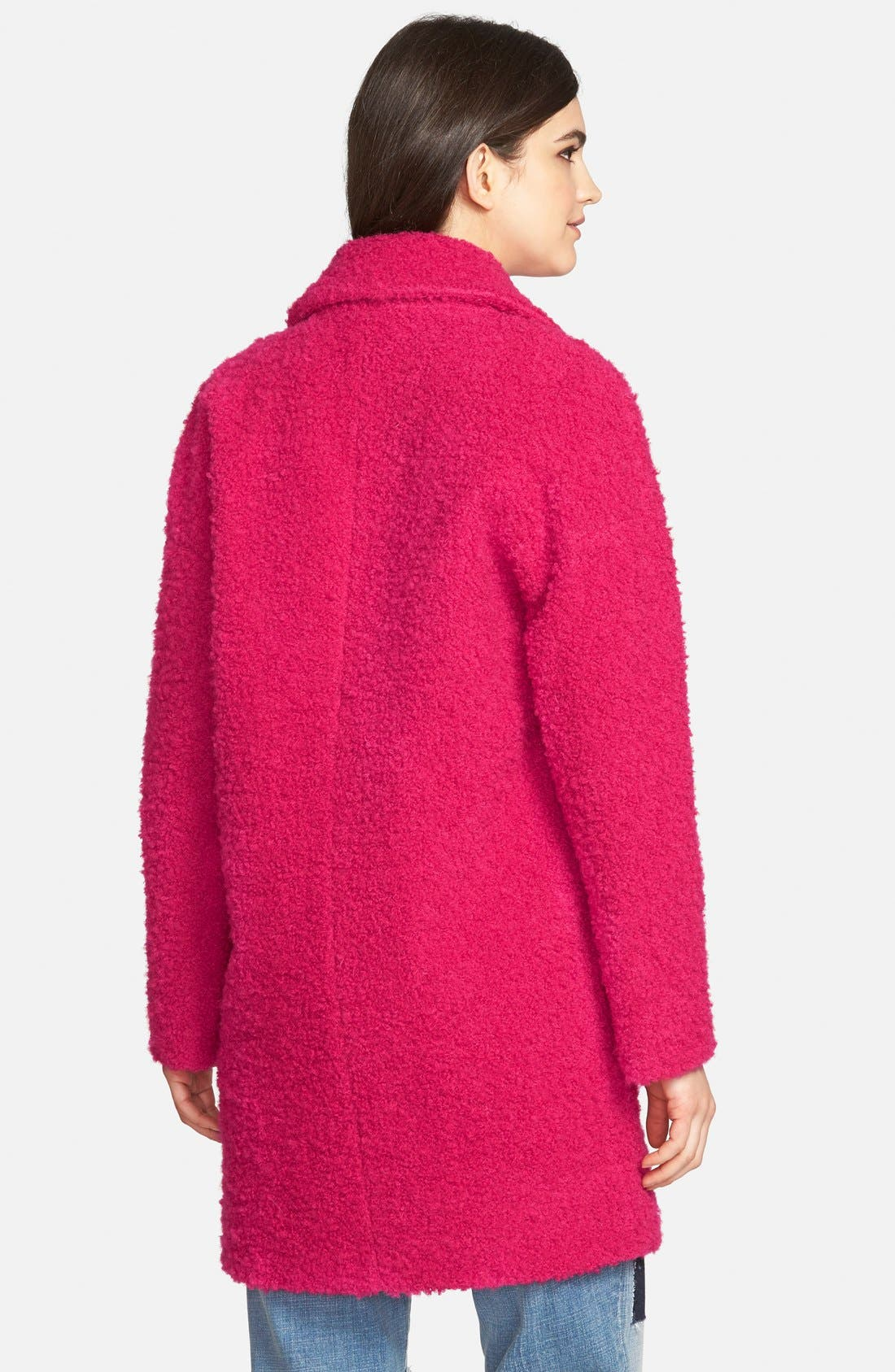 Alternate Image 2  - Betsey Johnson Notch Collar Bouclé Coat