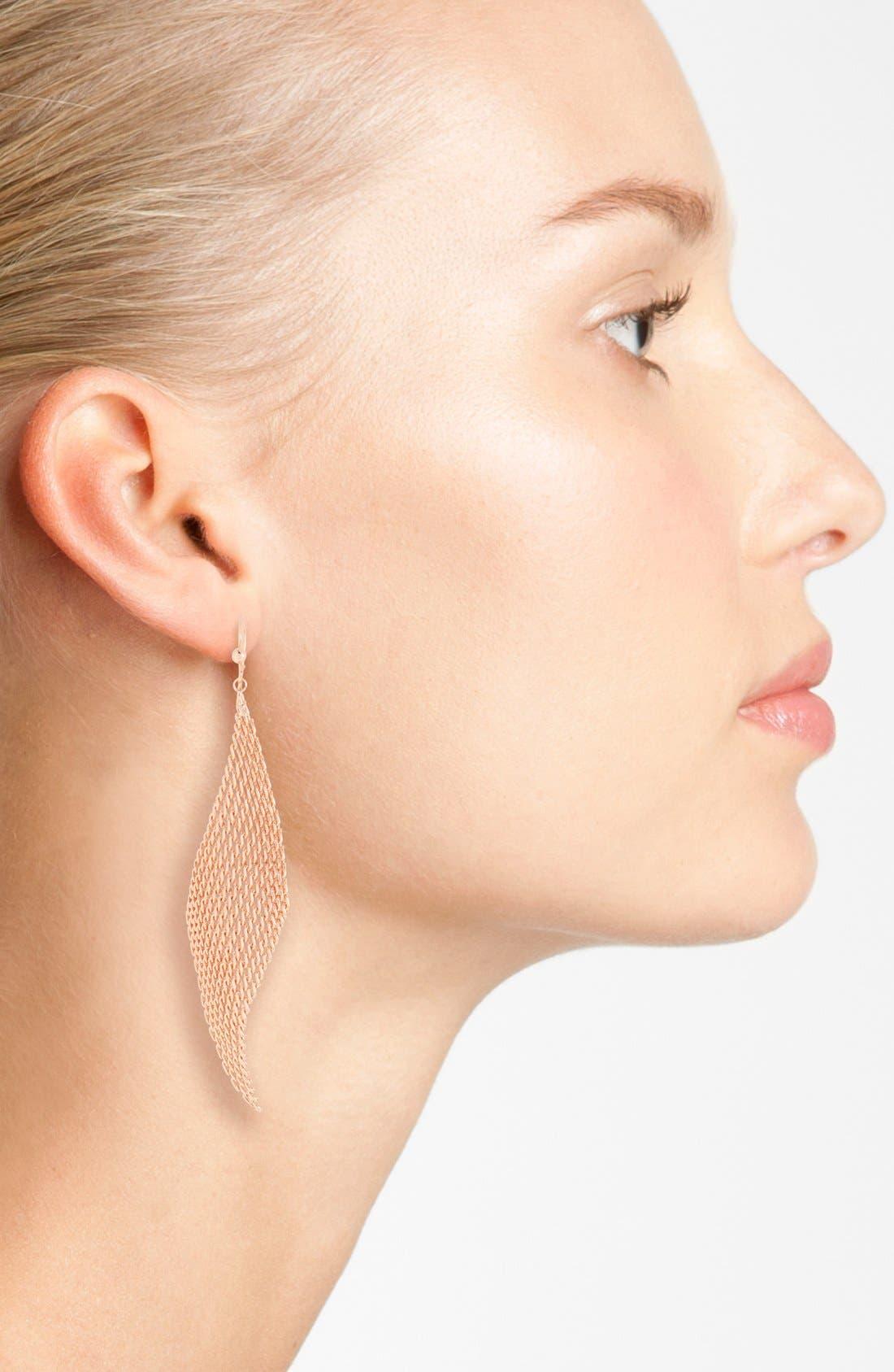Alternate Image 2  - Jules Smith Mesh Fan Drop Earrings