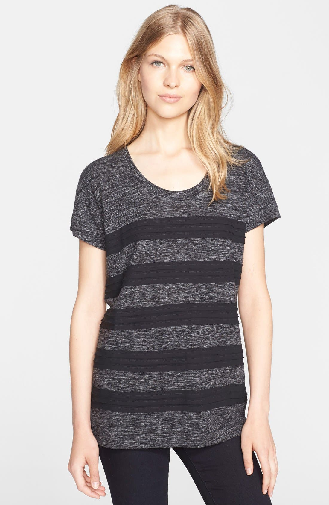 Alternate Image 1 Selected - Burberry Brit Tiered Contrast Tee