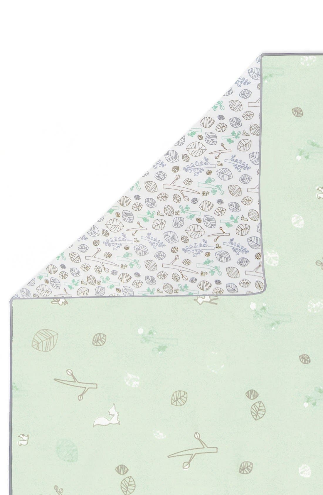 'Woods' Crib Sheet, Crib Skirt, Contour Changing Pad, Play Blanket & Wall Decals,                             Alternate thumbnail 4, color,                             Green