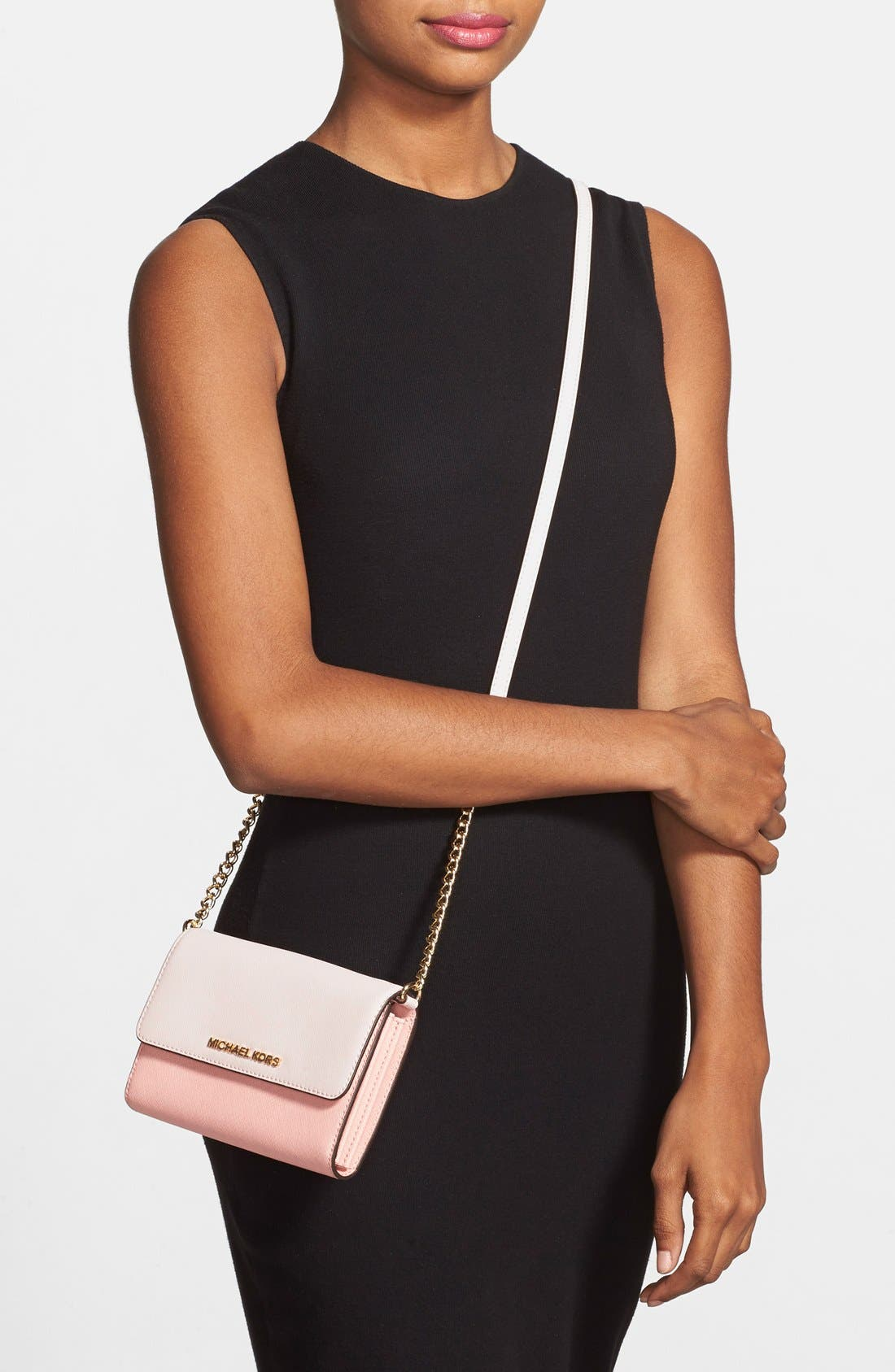 Alternate Image 2  - MICHAEL Michael Kors 'Jet Set Travel' Saffiano Leather Crossbody Bag
